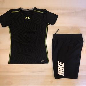 Boys Under Armour and Nike Lot Size Medium Large